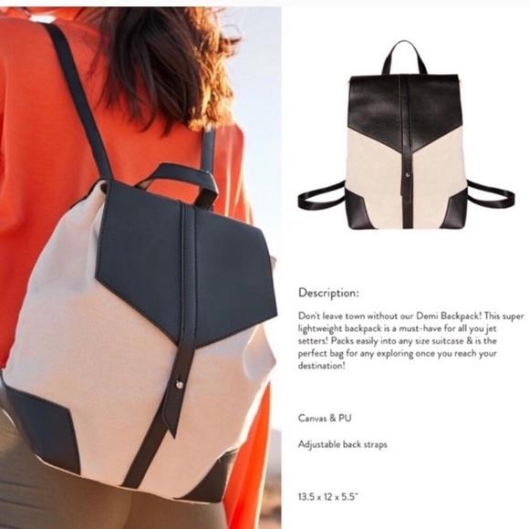 Deux Lux Handbags - Deux Lux Canvas & Vegan Leather Backpack NEW! (C)